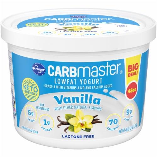 Kroger® CarbMaster® Low Fat Vanilla Yogurt Perspective: front