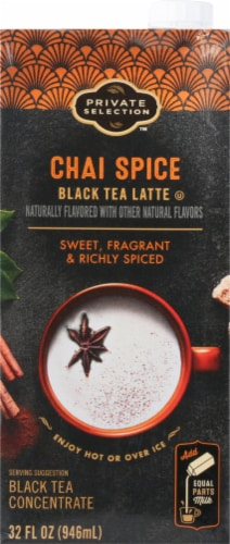 Private Selection Chai Spice Black Tea Latte Concentrate Perspective: front