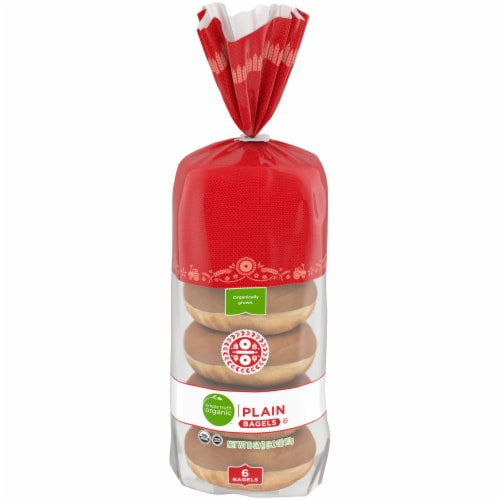 Simple Truth Organic™ Plain Bagels 6 Count Perspective: front