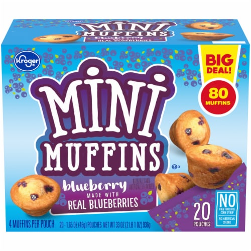 Kroger® Blueberry Mini Muffins Perspective: front