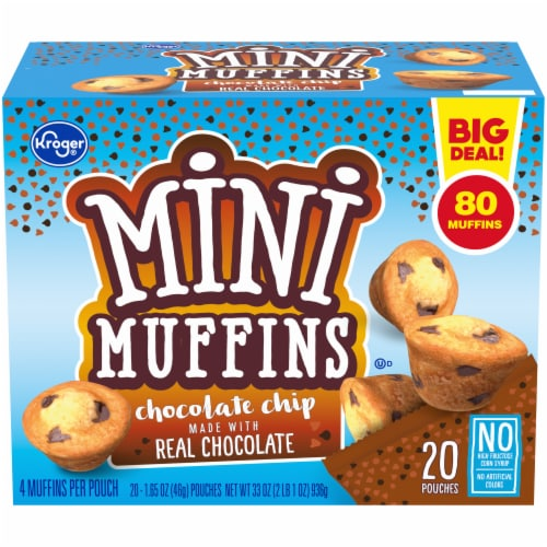 Kroger® Chocolate Chip Mini Muffins 20 Count Perspective: front
