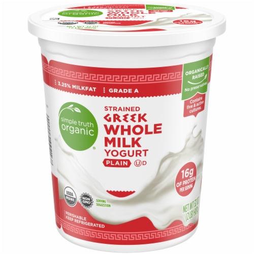 Simple Truth Organic™ Strained Greek Whole Milk Plain Yogurt Perspective: front