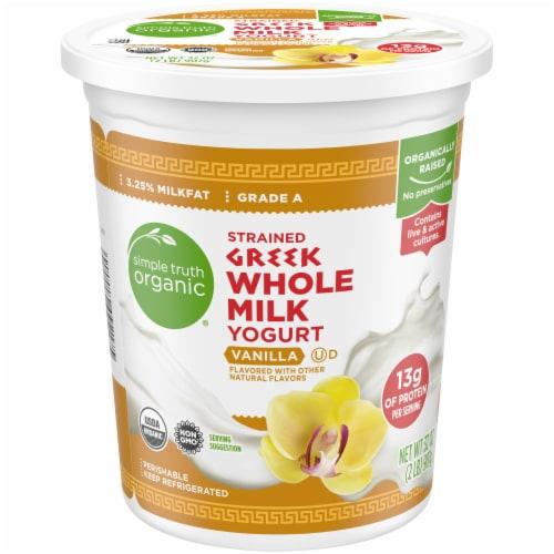Simple Truth Organic™ Strained Greek Whole Milk Vanilla Yogurt Perspective: front