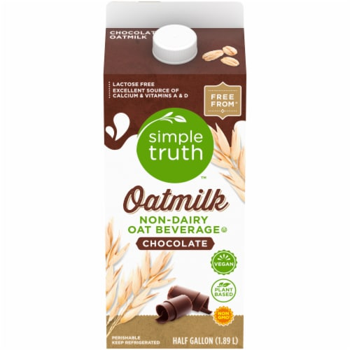 Simple Truth Chocolate Oat Milk Perspective: front