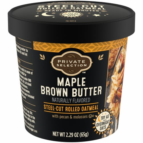 Private Selection™ Maple Brown Butter Oatmeal Cup Perspective: front