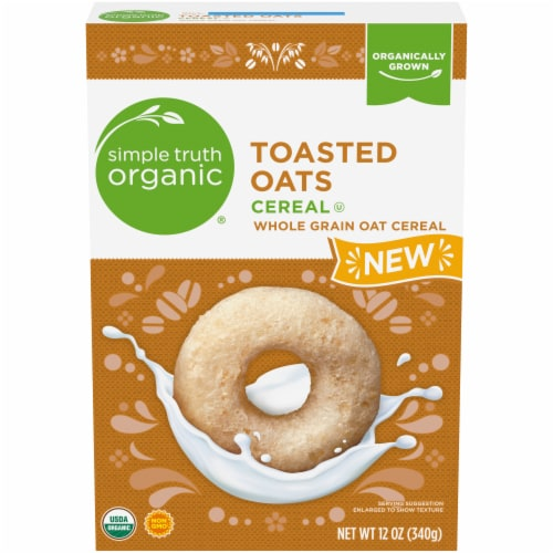 Simple Truth Organic® Toasted Oats Cereal Perspective: front
