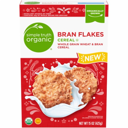 Simple Truth Organic™ Bran Flakes Cereal Perspective: front
