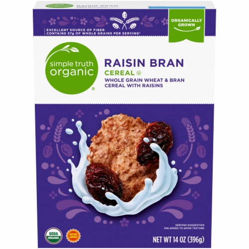 Simple Truth Organic ® Raisin Bran Cereal Perspective: front