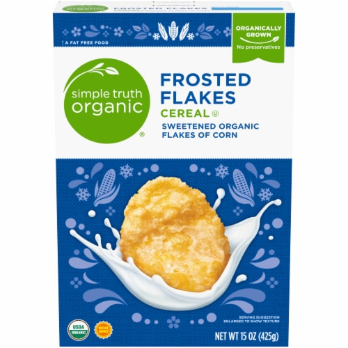 Simple Truth Organic® Frosted Flakes Cereal Perspective: front