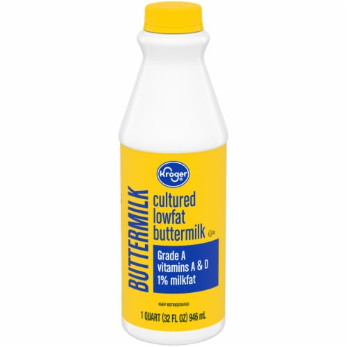 Kroger® Cultured Low Fat 1% Buttermilk Perspective: front