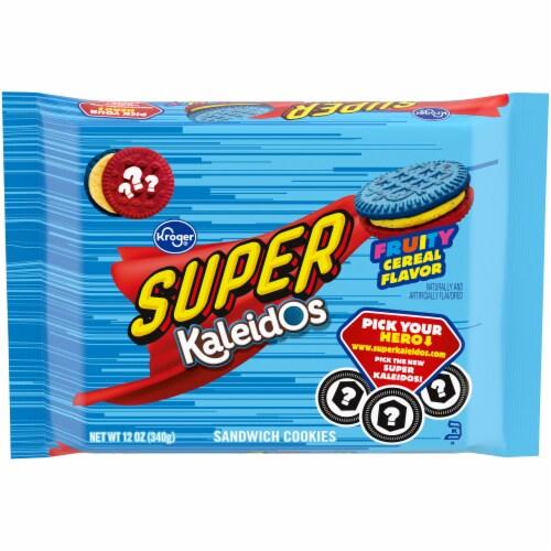Kroger® Fruity Cereal Super Kaleidos Sandwich Cookies Perspective: front