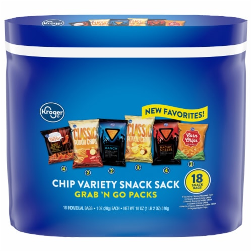 Kroger® Chip Variety Grab 'N Go Packs Perspective: front