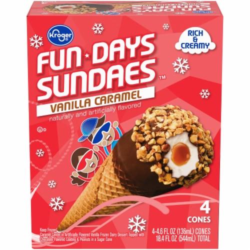 Kroger® Fundays Sundaes™ Vanilla Caramel Cone Perspective: front