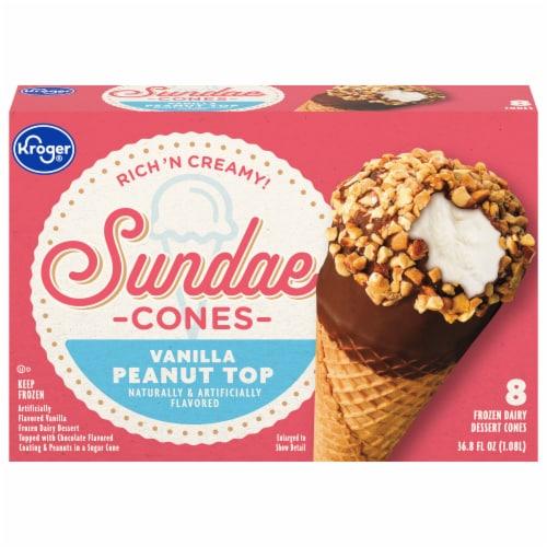 Kroger® Fundays Sundaes™ Vanilla Cone Perspective: front