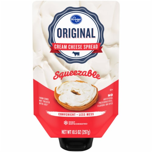 Kroger® Original Cream Cheese Squeeze Pouch Perspective: front