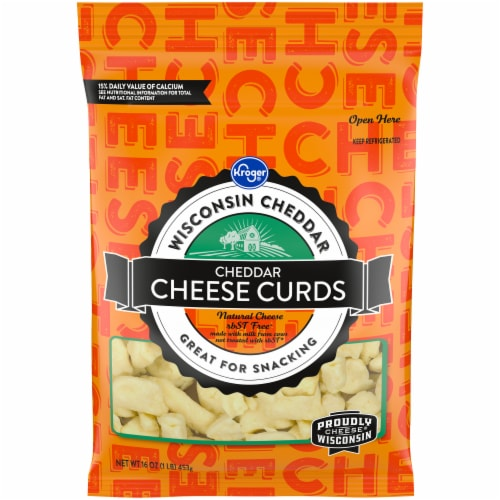 Kroger® White Cheddar Cheese Curds Perspective: front