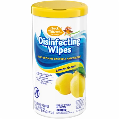 Check This Out Lemion Scent Disinfecting Wipes Perspective: front