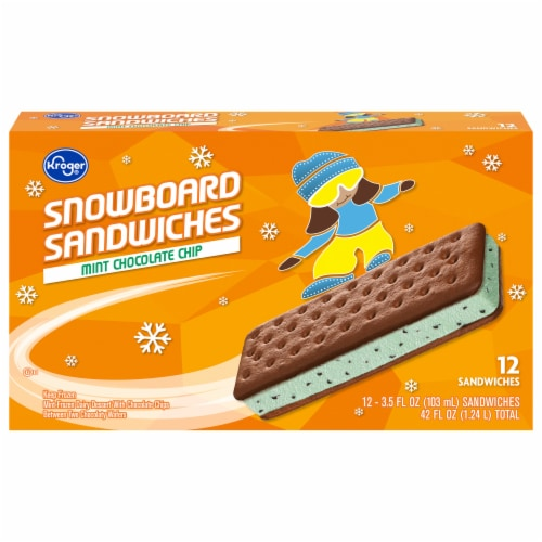 Kroger® Mint Chocolate Chip Snowboard Sandwich Perspective: front