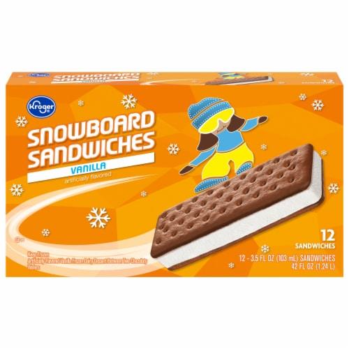Kroger® Snowboard Sandwiches Vanilla Frozen Dairy Dessert Perspective: front