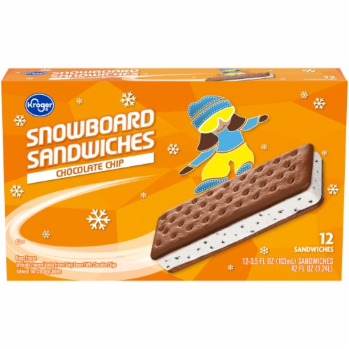 Kroger® Chocolate Chip Snowborad Sandwich Perspective: front