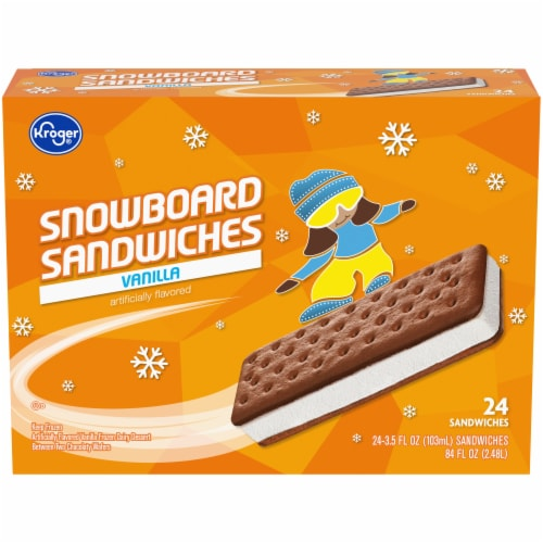 Kroger® Vanilla Snowboard Sandwich Perspective: front