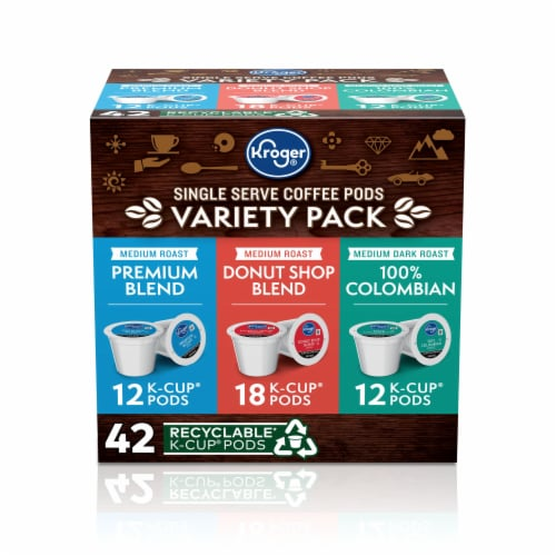 Kroger® Single Serve Coffee K-Cup Pods Variety Pack Perspective: front