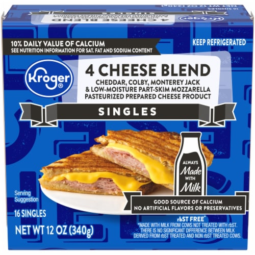 Kroger® 4 Cheese Blend Singles Perspective: front