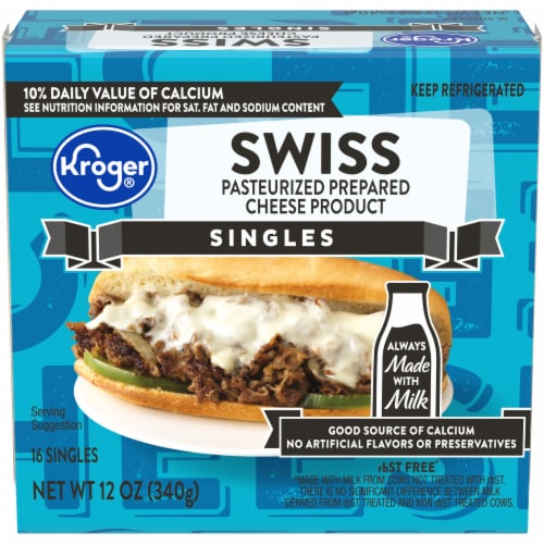 Kroger® Swiss Cheese Singles Perspective: front