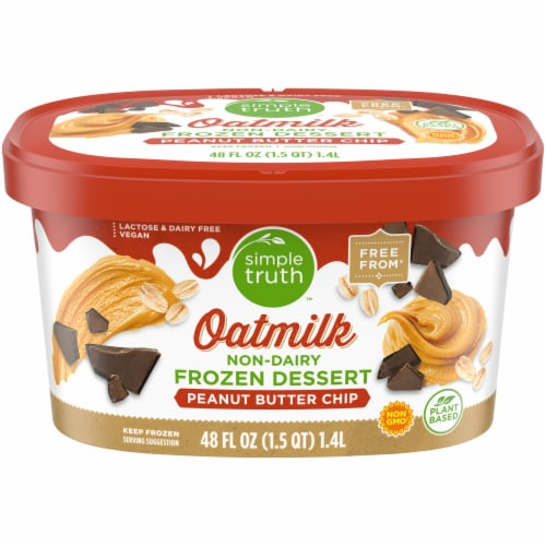 Simple Truth™ Peanut Butter Cup Oatmilk Non-Dairy Frozen Dessert Perspective: front