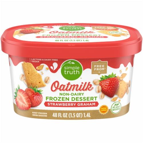 Simple Truth Oatmilk Frozen Dessert - Strawberry Graham Perspective: front