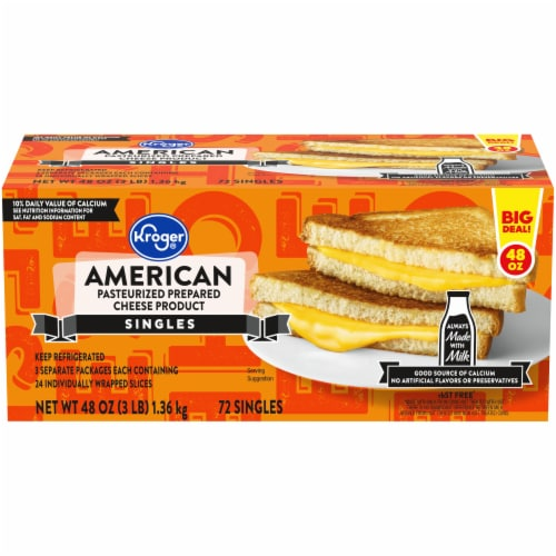 Kroger® American Processed Cheese Singles Perspective: front