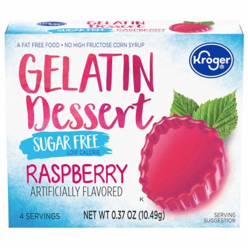 Kroger® Sugar Free Raspberry Gelatin Dessert Mix Perspective: front