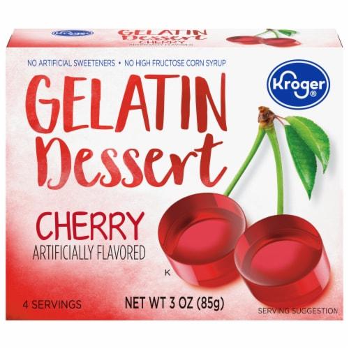 Kroger® Cherry Gelatin Dessert Mix Perspective: front