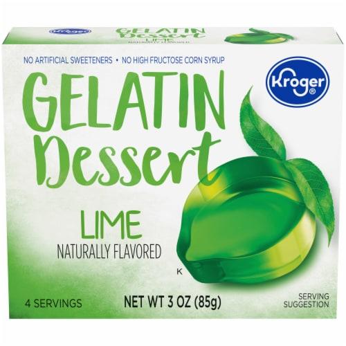 Kroger® Lime Gelatin Dessert Mix Perspective: front