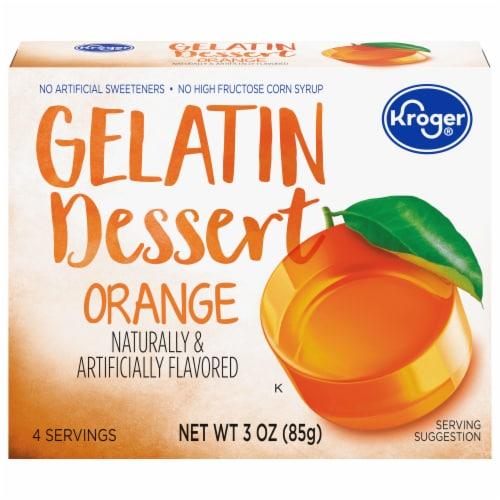 Kroger® Orange Gelatin Dessert Mix Perspective: front