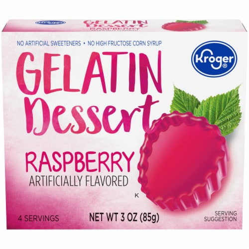 Kroger® Raspberry Gelatin Dessert Mix Perspective: front