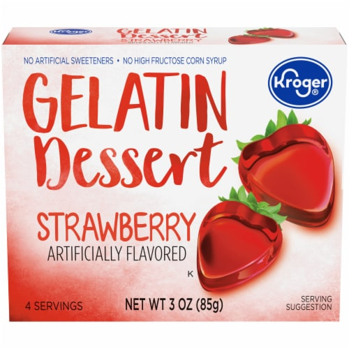 Kroger® Strawberry Gelatin Dessert Mix Perspective: front