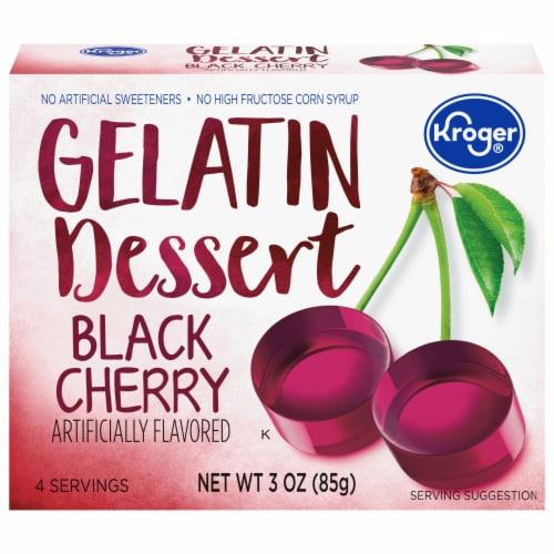Kroger® Black Cherry Gelatin Dessert Mix Perspective: front