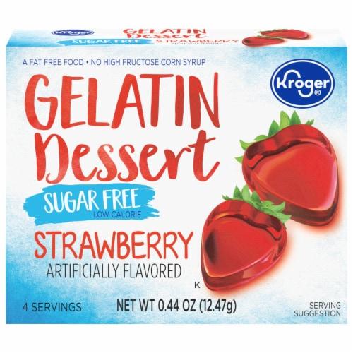 Kroger® Sugar Free Strawberry Gelatin Dessert Mix Perspective: front