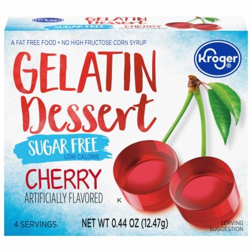Kroger® Sugar Free Cherry Gelatin Dessert Mix Perspective: front