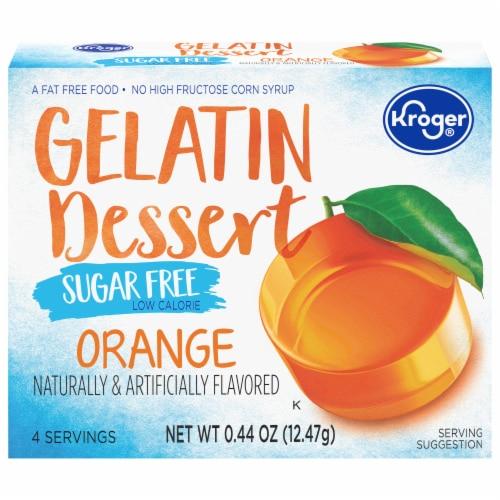Kroger® Sugar Free Orange Gelatin Dessert Mix Perspective: front