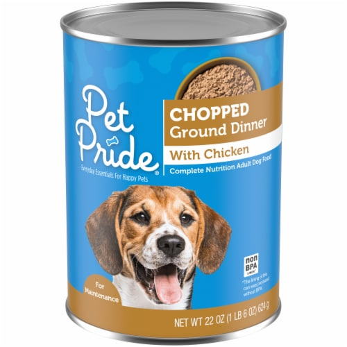 Pet Pride Chopped Ground Dinner with Chicken Perspective: front