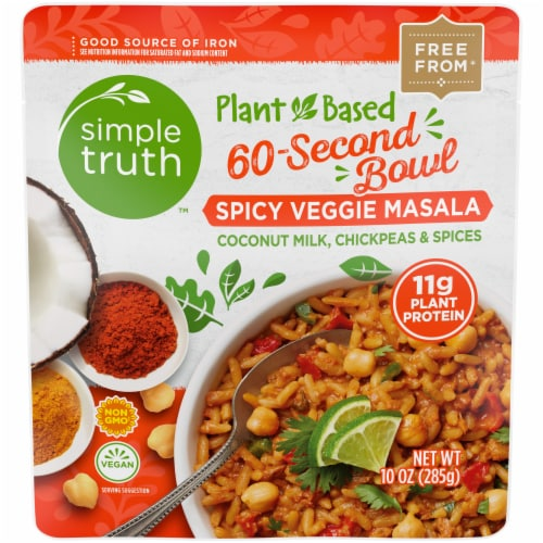 Simple Truth™ Plant Based Spicy Veggie Masala Bowl Perspective: front