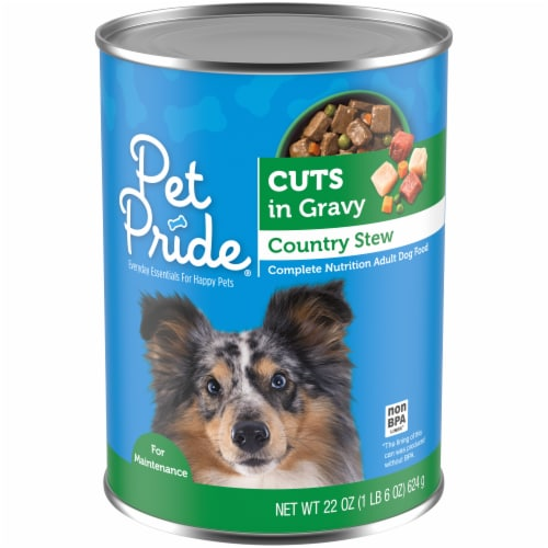 Pet Pride Cuts in Gravy Country Stew Perspective: front