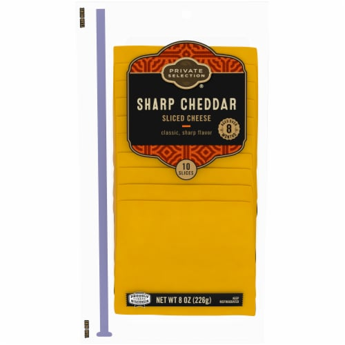 Private Selection™ Sharp Cheddar Silced Cheese Perspective: front