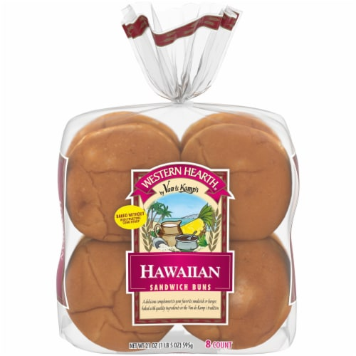 Western Hearth® Hawaiian Extra Large Sandwich Buns Perspective: front