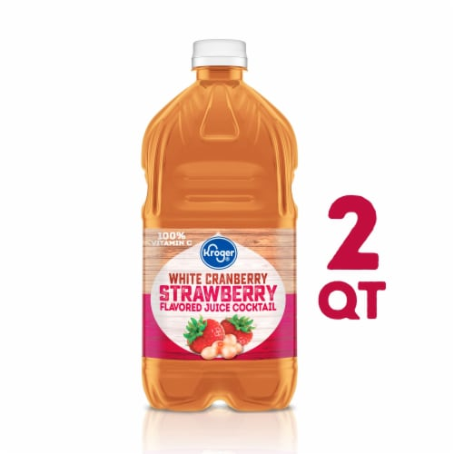 Kroger® White Cranberry Strawberry Juice Cocktail Perspective: front