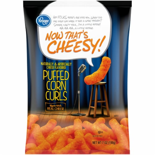 Kroger® Now That's Cheesy! Puffed Corn Curls Perspective: front