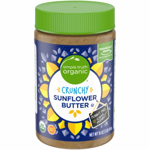 Simple Truth Organic Crunchy Sunflower Butter Perspective: front