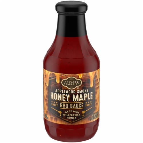 Private Selection® Applewood Smoke Honey Maple BBQ Sauce Perspective: front